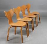 Arne Jacobsen, stolar Grand Prix, 4 st, bok