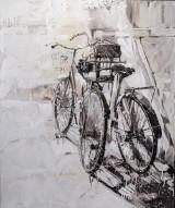 Tom Tom. Komposition med cykler. Akryl på lærred