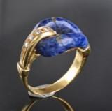 Sæt smykker af guld, med brillanter, lapis lazuli og kulturperler ( 2 )