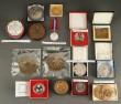 Samling mønter og medaljer