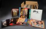 En samling på ca 100 LP plader og ca 20 single plader.