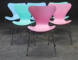 Arne Jacobsen.  'Syveren' stole, model 3107 - Mix (6)