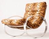 Minimalist rocking chair 1960s/1970s by Hans Kaufeld