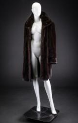Mahogany mink coat, size 40 / 42