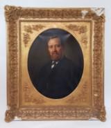 Johann Heinrich Hasselhorst (1825-1904), portrait of a bearded man, oil/canvas