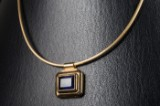 Kette / Schlangenkette aus 585er Gold mit Amethyst, 750er Gold