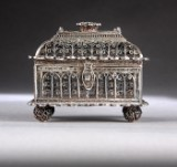 Russian Empire box, silver with filigree work, Moscow 1826