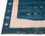 Moderne tæppe, formgivet af Sartori. Håndlavet, 178 x 241 cm