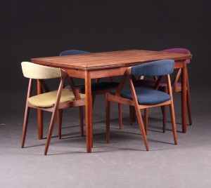 spisebord teak Spisebord, teak. Derudover Kai Kristiansen: 4 stole, teak (5  spisebord teak