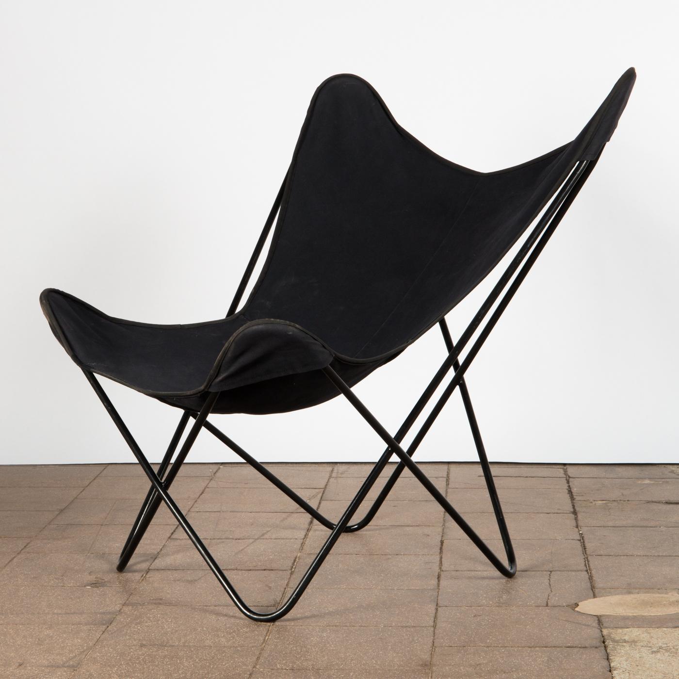 Jorge Ferrari Hardoy, Juan Kurchan Und Antonio Bonet, Hardoy Chair / Lounge  Chair, Metall / Stoff   Lauritz.com