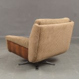 Lounge chair, 1960s, chrome base, wood venner, unknown designer