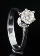 18kt diamond solitaire ring approx. 0.70ct