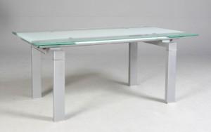 glas spisebord med udtræk