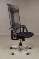 HÅG H09 office/desk chair with multiple function Tilt Down, black leather armrests