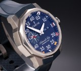 Corum 'Admiral's Cup Competition'. Men's watch, titanium, with blue dial, c. 2011/12