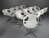 Hiromichi Konno, Fritz Hansen, chairs, model RIN HK10, sixteen (16)