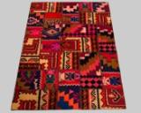 Teppich, Patchwork Design Rivive Vintage, ca 206 x 146 cm
