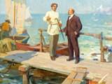 Nikolaj Dorfeevich Gorshkov, Lenin and Gorkij on Capri