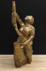Skulptur, bemålat trä, troligen galjonsfigur