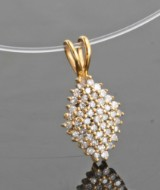 Diamond pendant in gold approx. 0.50ct