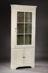 Corner display cabinet in Louis XVI form, 19th century