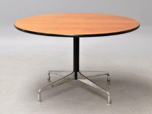 charles eames runder esstisch 39 segmented table 39 nussbaum 122 cm. Black Bedroom Furniture Sets. Home Design Ideas