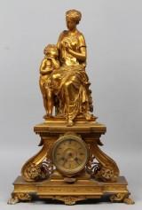 Fransk kaminur, 18/1900-tallet, bronze