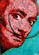 Flör, Acryl auf Leinwand, 'Dali in red'
