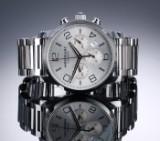 Montblanc 'Timewalker Chronograph'. Herreur i stål med sølvfarvet skive, 2010'erne