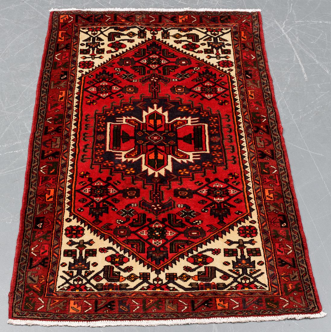 Persisk Hamadan Shahrboft 198 x 123 cm - Persisk Hamadan Shahrboft tæppe, uld med bomuld, i målene 198 x 123 cm