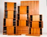 Poul Cadovius, shelf system 'Royal System' in teak (approx. 20)