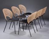 Nanna Ditzel. A set of six chairs, 'Trinidad', model 3296, oak (6)