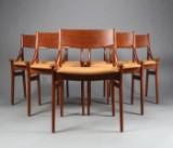 Vestervig Eriksen. A set of six chairs in teak (6)