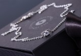 Ole Lynggaard. 18 kt. white gold necklace, brilliant-cut diamond, 0.20 ct.