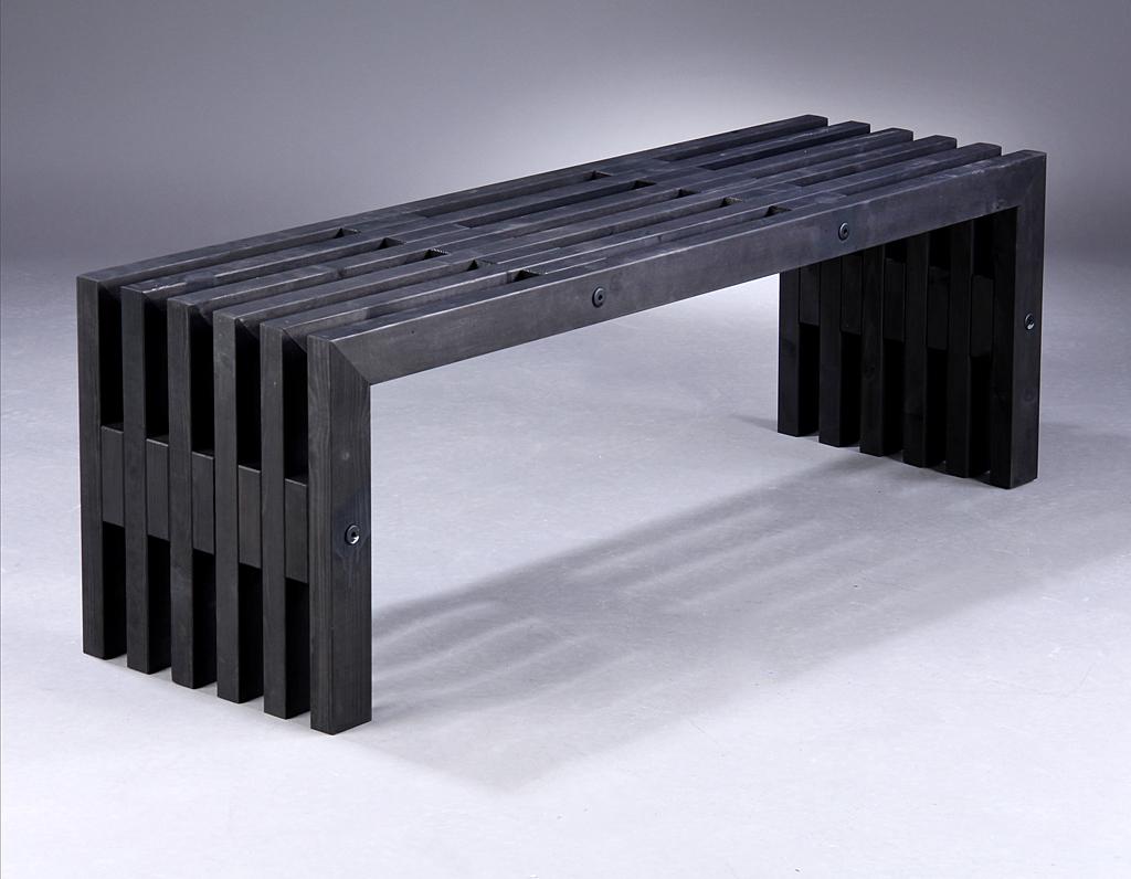 Nye Auktionstipset - Bænk, dansk produceret 'Trallebænk' af ral 9005 WD-29