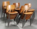 Dansk møbelproducent. Skolestole / stabelstole, 1970'erne (28)
