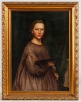 Gustava Grüner, self-portrait, oil on canvas