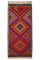 Nordvest Persisk Kelim, 370 x 162 cm.