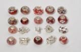20 Beads /Charms - Charlotte Borgen - Rød