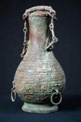 Kanna med lock, Kina, troligen Hanperiod