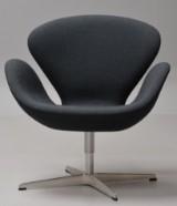 Arne Jacobsen. The Swan easy chair, model 3322, canvas, Brown Label