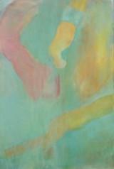 Johanna Theilst, akryl på lærred, komposition
