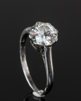 White gold ring with brilliant-cut diamond, approx. 2.20 ct.