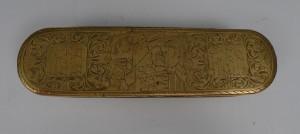 Dosa med lock, mässing, 1800-tal