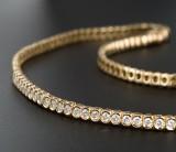 Brilliant-cut diamond necklace, gold - approx. 3.36 ct.