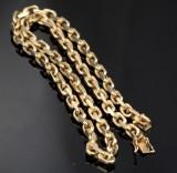 Danish gold anchor chain