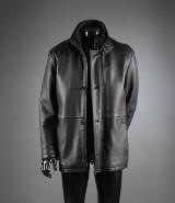 Gino Marcello, jakke af sort kalveskind, str. 50