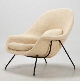 Eero Saarinen, Knoll, lounge chair, 'Womb chair', 1960s
