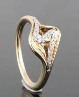14kt diamond ring approx. 0.06ct