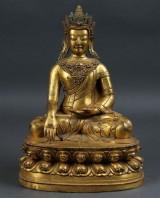 Buddha, bronze, Tibet/China, 20th century?